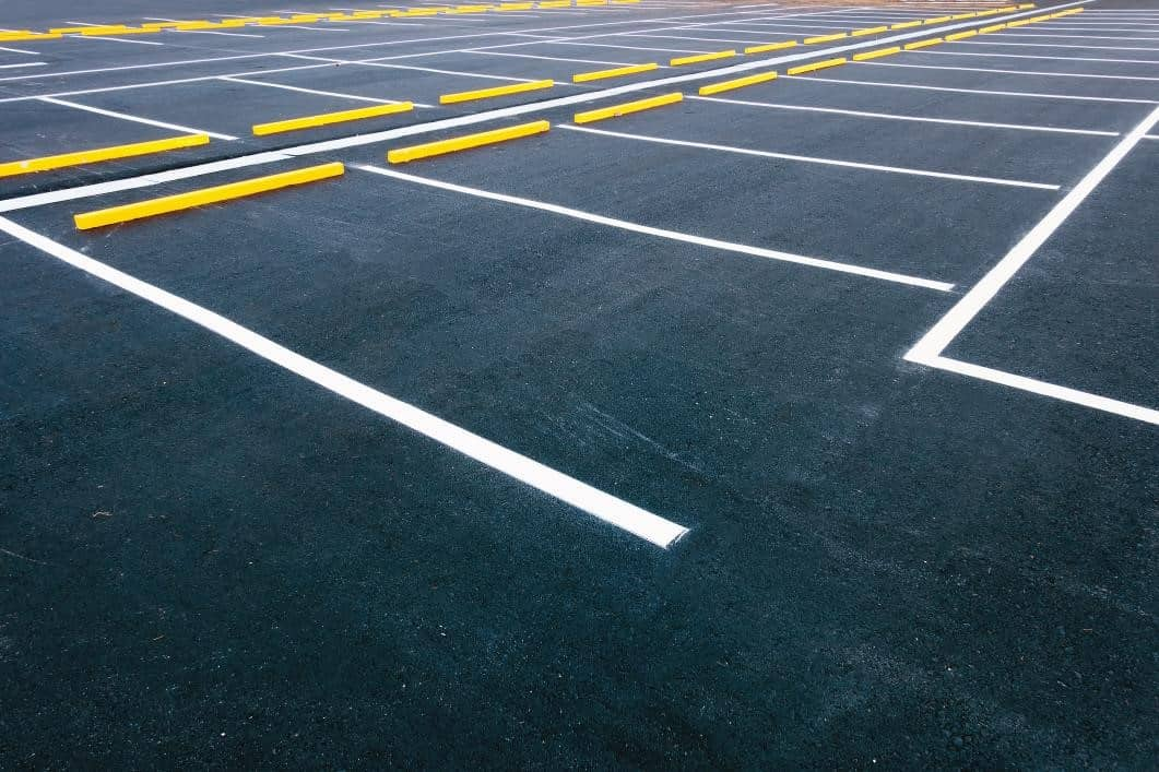 paved parking lot